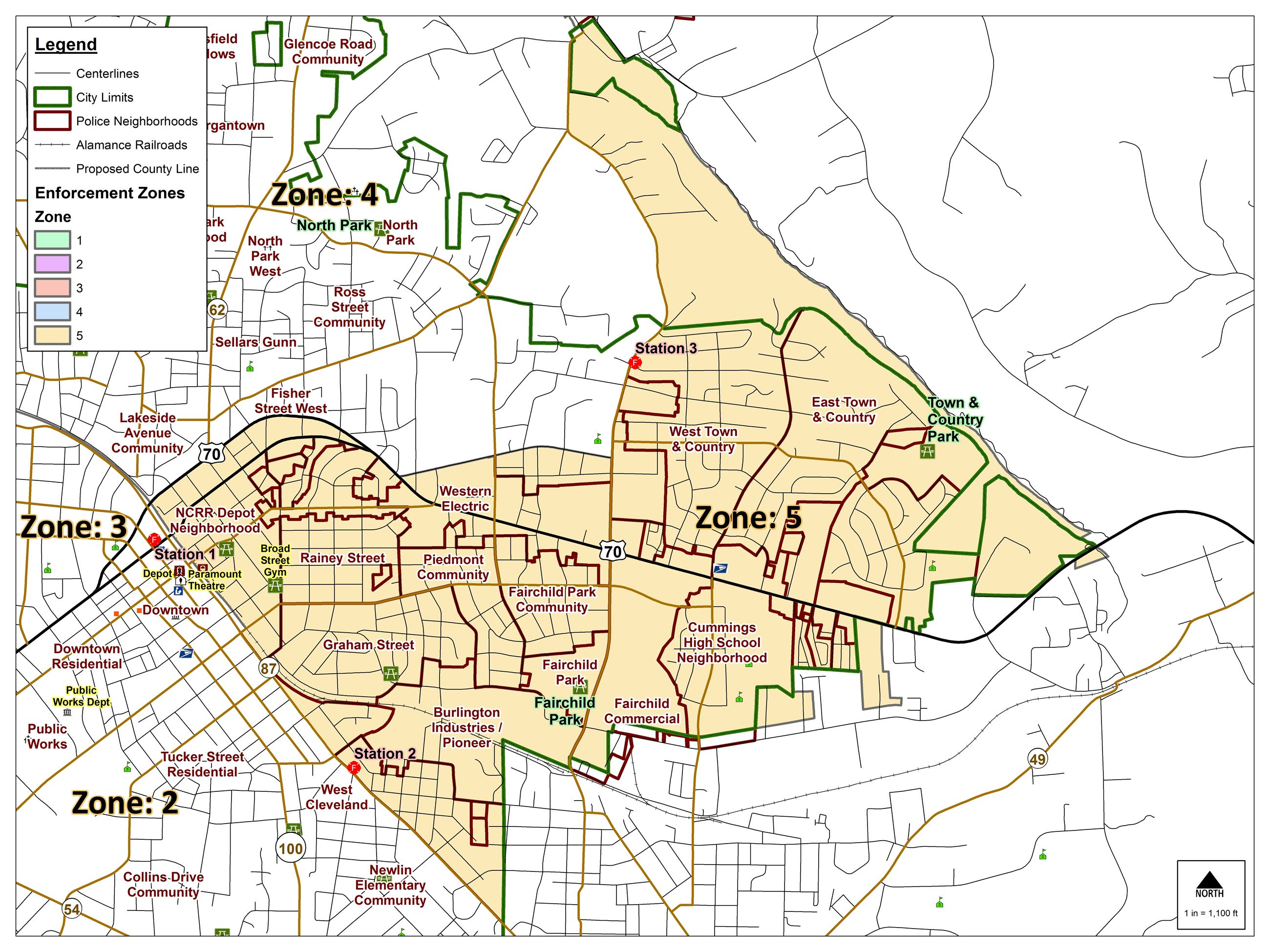Zone 5 - Enforcement Zones Map